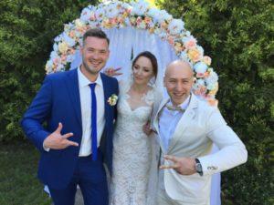 Ведущий Киев Денис Скрипко на свадьбе Карины и Саши 10 июня 2017 года