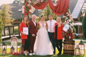 Свадьба в красном цвете - ведущий на свадьбу в Киеве